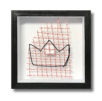 Crown - Tennis string art