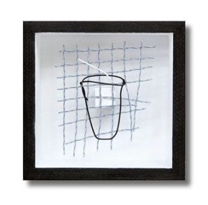 Cup with straw - Tennis string art