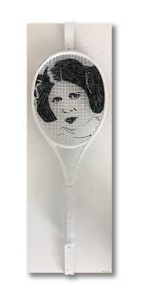 HOPE - Princess Leia tennis racquet portrait art