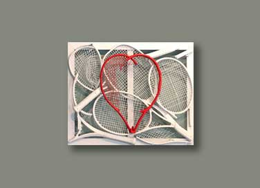 Heart at Work III - Tennis racquet abstract art