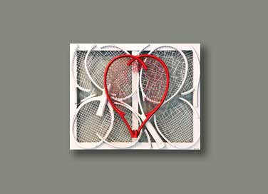 Heart at Work IV - Tennis racquet abstract art