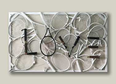 LOVE - Tennis racquet abstract art