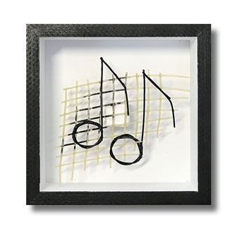 Music Notes - Tennis string art